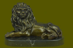 Lion Sculpture Statue Figurine Attractive Bronze Statues Home Deco Office Art T