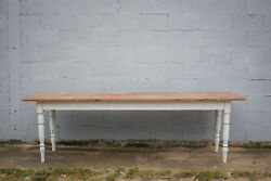 2.7m Long French Antique Table Kitchen Island Vintage