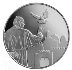 2014 Israel State Medal Silver Visit Of Pope Francis To The Holy Land - 39mm