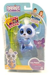 Fingerlings Glitter Panda Archie Blue, Interactive Collectible Baby Pet Toy 3563
