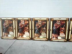 The Parting Kiss 8 Reprodution Paintings Framed