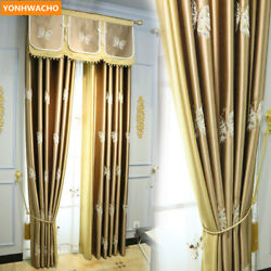 High Grade Bronze Gold Embroidery Luxury Chinese Clothcurtain Valance Drape N907