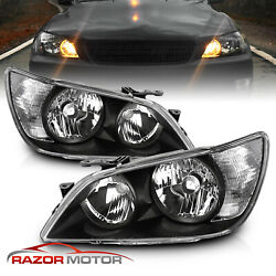 2001-2005 Factory Black Headlight Assembly Pair For Lexus Is300 Left+right