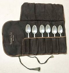 Vintage Ny Sterling Silver Coffee Desert Spoons Case Set 6 Mint Gift