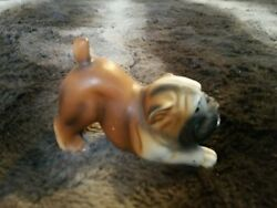 Vintage Ceramic English Bulldog Figurine Unmarked hard stone-like finish