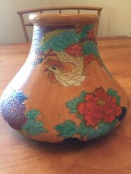Antique Rare 1800andrsquos Japanese Awaji Pottery Exibition Piece Immaculate Condition