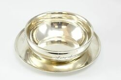 Gorham And International Sterling Silver Bowl And Plate. Weight 11 Toz.