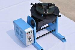 New 115rpm 30kg Duty Welding Positioner Turntable Timing With 200mm Chuck 220v