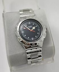 Nos Swatch Irony Yds401 Lava Rock Watch Swiss Made Steel Watch With Diver Look