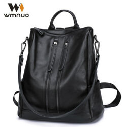 RARE Women Backpack Cow Leather For Girls School Bags Fashion Shoulde