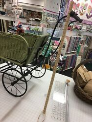 Antique Wicker Baby Buggy Stroller Carriage Vintage Original Not Reproduction