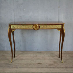 Lovely French Antique Console Table With Bronze Louis XV