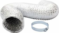 iPower 6 Inch 8 Feet Non-Insulated Flex Air Aluminum Ducting Dryer Vent Hose for