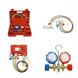 Mofeez Pro AC AC Diagnostic Manifold Freon Gauge Set For R134A R12 R22 With And