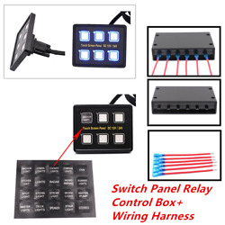 For Car Truck Marine6 Gang LED Touch Screen Panel Slim Switch Controls Universal