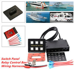 6 Gang LED Touch Screen Panel Slim Switch Controls Marine Car Truck Instrument