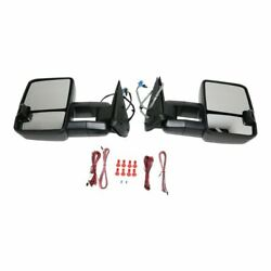New Set Of 2 Lh And Rh Side Smoked Led Door Mirror For Silverado 3500 Classic 2007