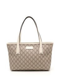 GUCCI GG implementation tote bag PVC leather Beige