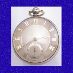 Substantial Silver Fusee Cylinder London Drum Cased Pocket Watch 1827