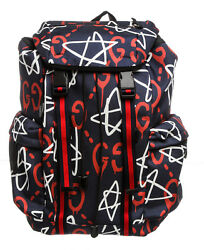 Gucci GucciGhost Multicolor Canvas Leather Backpack Bag