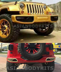 for Jeep Wrangler (JK)10th Anniversary style FRONT & REAR BUMPERS w LED 2007-17