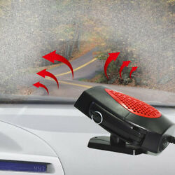 12V Portable Auto Car Ceramic Heater Heating Cooling Fan Defroster Demister Red