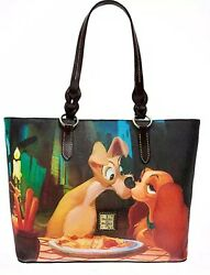 NWT Disney Dooney & Bourke Lady And The Tramp Shopper Tote Dogs