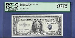 1957b 1 One Dollar Star Silver Certificate Pcgs 55 Choice About New Ppq