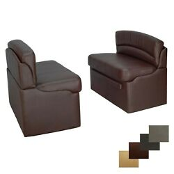 Rv Recpro 44 Mahogany Dinette Booth Seats With Storage Converts To Bed Camper