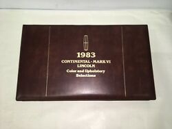 1983 Lincoln Dealer Issued Color And Upholstery Options Selections Book