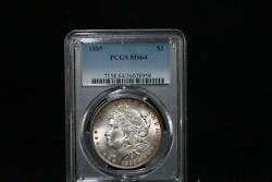 1885 Morgan Pcgs Uncirculated Ms-64 Silver Dollar Coin Philadelphia Mint