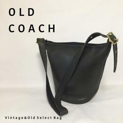 Made in USA] COACH Old Coach bucket-type shoulder bag black (29343