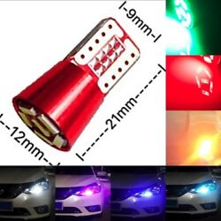 2x T10 W5W 168 192 2825 Wedge 6 LED Interior Out Door Parking Side Light B1 U