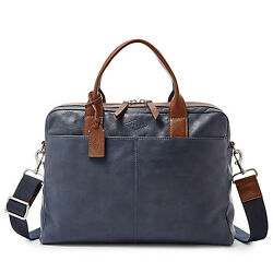 Fossil Wyatt Work Bag Navy MBG9228400