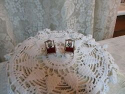 Vintage-adorable Miniature-1 5/8-sterling Silver-925 Set Of 2 Doll House Chairs