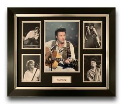 Paul Young Hand Signed Framed Photo Display Music Memorabilia 1.