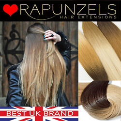 Ombre Root Fade Nail Tipped Fusion Remy Keratin Bonded Hair Extensions 100grams