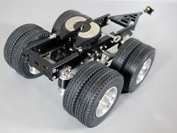 Aluminum Tamiya 1/14 R/c Semi Tractor Trailer 2 Axles Dolly And Attach Pin Mount