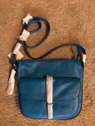 Fossil Ryder Crossbody Bag ZB7411P Cerulean Blue New