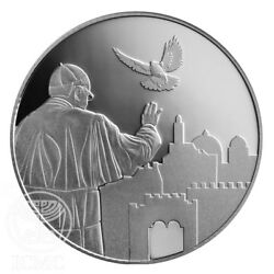 Israel Silver State Medal Visit Of Pope Francis To The Holy Land 39mm 1oz S