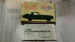 Corvette 1966 Owner's Guide First Edition With O.p. Plate