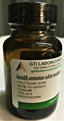 Nickelii Ammonium Sulfate Hexahydrate, 99.2, For Synthesis, Certified® 30g