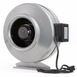 Hydroponics Fan 110 Volt Inline Exhaust Duct Air Blower Vent Bracket Sliver New