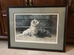 West Highland White Terrier and Scottie Dog Print by Herbert Dickson