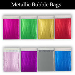 Coloured Bubble Envelopes Mailer Padded Metallic Glossy Bags For Gift, Jewellery