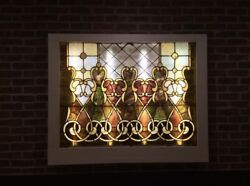 Vintage Stained Glass Window Rectangle