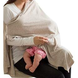 Nursing Cover Soft Breathable Cotton 360 Full Coverage Privacy Button Type Scarf