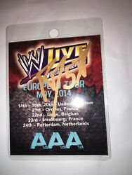 Wwe Live May 2014 Wwe Hand Signed Rvd Event Backstage Badge