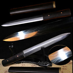 Daggers Short Sword Hand Forged Folded T10 Steel With Clay Tempered Blade 2315