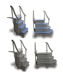 Confer Above Ground Swimming Pool Steps Various Options And Various Colors